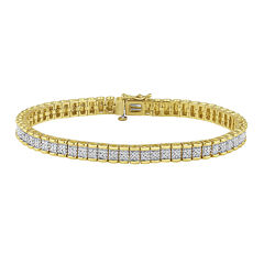 1/4 CT. T.W. Diamond 14K Yellow Gold Over Sterling Silver Bracelet