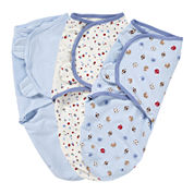 Summer Infant® 3-pk. SwaddleMe® Blankets - Blue Sports Dots