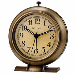 Bulova Champagne Alarm Clock-B5024