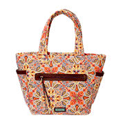 Waverly Paisley Floral Quilted Large Tote Bag