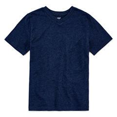 Arizona Short-Sleeve Solid V-Neck Tee - Boys 8-20 and Husky
