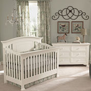 Muniré Furniture Medford Convertible Crib - White
