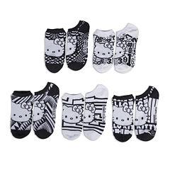 Hello Kitty® Womens 5-pk. No-Show Socks