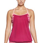 Nike Stripe Tankini Swimsuit Top