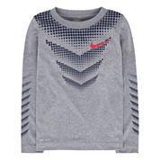 Nike Chevron Dot Long-Sleeve Dri-Fit Top - Boys 4-7