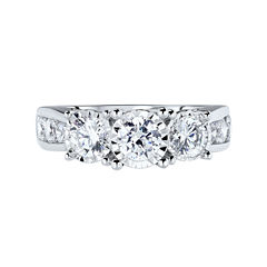 TruMiracle® 2 CT. T.W. Round Diamond 3-Stone Engagement Ring