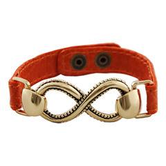 Art Smith by BARSE Infinity Orange Leather Bracelet