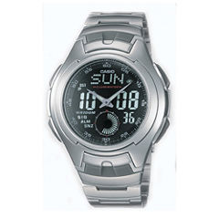 Casio® Mens Stainless Steel Analog/Digital Watch AQ160WD-1BV