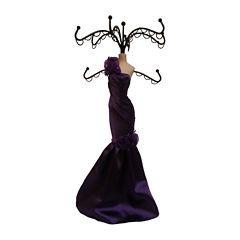 Purple Dress Jewelry Stand Organizer
