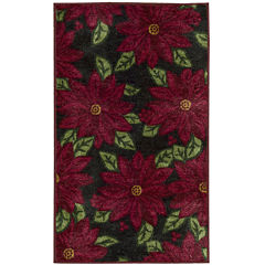 Nourison® Allover Poinsettias Rectangular Rug