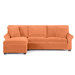 Fabric Possibilities Roll-Arm 2-pc. Left-Arm Chaise/Loveseat Sectional