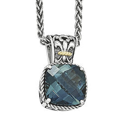 Shey Couture Genuine London Blue Topaz Sterling Silver Necklace