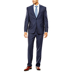 Collection by Michael Strahan Striped Navy Suit- Classic