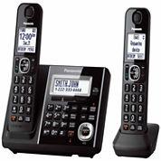 Panasonic KX-TGF342B Expandable Digital Cordless Answering System with 2 Handsets - Black