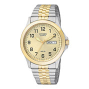 Citizen® Mens Two-Tone Stainless Steel Expansion Strap Watch  BF0574-92P