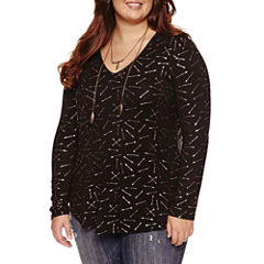 Self Esteem Long Sleeve Layered Top Juniors Plus