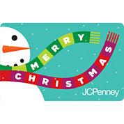 $100 Merry Christmas Snowman Gift Card
