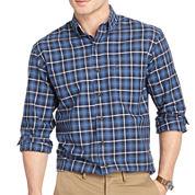 IZOD® Long-Sleeve Plaid Oxford Sport Shirt