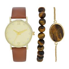 Womens Brown Watch Boxed Set-Wac5270jc