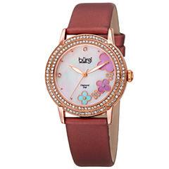 Burgi Womens Red Strap Watch-B-142bur