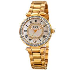 Burgi Womens Gold Tone Bracelet Watch-B-165yg