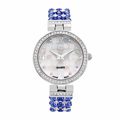 Croton Blue Swarovski Womens Blue 2-pc. Watch Boxed Set-Cn207563rhbl