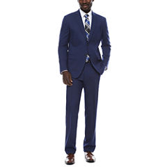 JF J. Ferrar Blue Micro Check Suit Separates-Slim