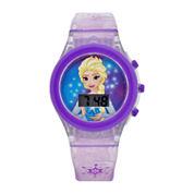 Frozen Girls Purple Strap Watch-Fzn3903jc