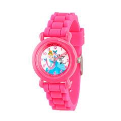 Disney Disney Princess Girls Pink Strap Watch-Wds000019