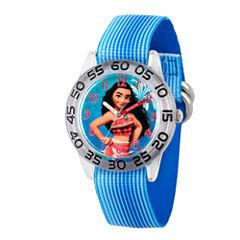 Disney Moana Girls Blue Strap Watch-Wds000043