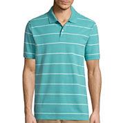 St. John's Bay® Short-Sleeve Striped Legacy Piqué Polo
