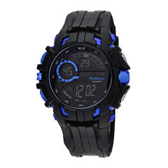 Armitron Mens Black Strap Watch-40/8335blu