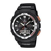 Casio® Twin Sensor Mens Black Resin Strap Analog/Digital Sport Watch SGW500H-1BV