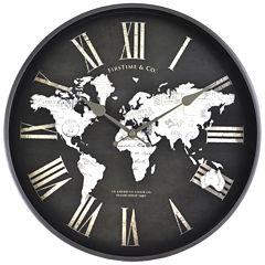 FirsTime® World Map Wall Clock