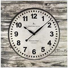 FirsTime® Weathered Square Wall Clock