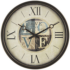 FirsTime® Live Laugh Love Wall Clock