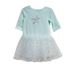 Marmellata 3/4Sleeve Mint Tutu Dress - Toddler