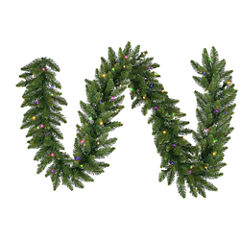 50 Ft. Pre-Lit Camdon Fir Artificial Christmas Garland with Multi LED Lights