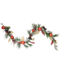6 Ft. Unlit Autumn Harvest Mixed Pine, Berry and Nut Thanksgiving Fall Garland