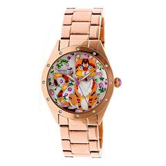Bertha Womens Rose Goldtone Strap Watch-Bthbr6103