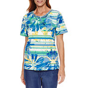 Alfred Dunner Short Sleeve Print Top