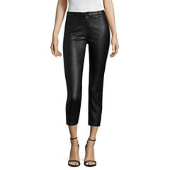 Buffalo Jeans Skinny Fit Coated Cropped Pants