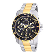 Invicta® Pro Diver Mens Black Dial Two-Tone Stainless Steel Sport Watch 17355