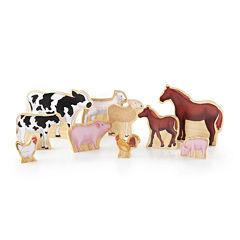 Guidecraft Wedgies 10-pc. Farm Animals Toy Set