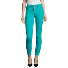 Blue Spice High Waist Ankle Skinny Pants Juniors