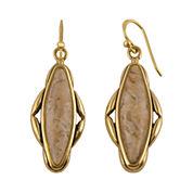 Art Smith by BARSE Genuine Jasper Brass Earrings