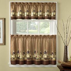 Wines 3-pc. Rod-Pocket Kitchen Curtain Set