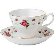 Royal Albert® White Vintage Teacup and Saucer Set