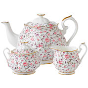 Royal Albert® Rose Confetti Vintage 3-pc. Teapot Set
