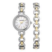 Armitron Now Womens Two Tone Watch Boxed Set-75/5485mpttst